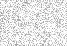Geïsoleerde zwarte ringen. Royalty-vrije Stock Afbeeldingen