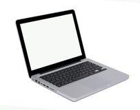 Geïsoleerde0 moderne laptop Stock Foto