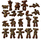 Geïsoleerde0 Teddybeer Stock Foto's