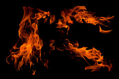 Geïsoleerde2 de vlamsamenvatting van de brand, Royalty-vrije Stock Afbeelding