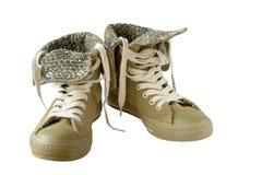 Geïsoleerde2 schoenen Stock Foto