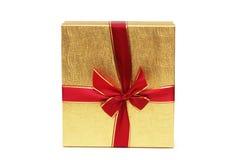 Geïsoleerde9 de doos van de gift stock afbeelding