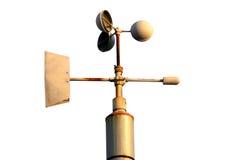 Geïsoleerdea anemometer   royalty-vrije stock foto's