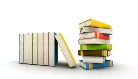 Geïsoleerdea boeken Stock Foto