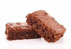 Geïsoleerdea brownie royalty-vrije stock foto