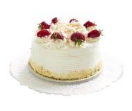 Geïsoleerdea cake Stock Foto