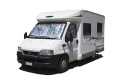 Geïsoleerdea caravan Stock Afbeelding