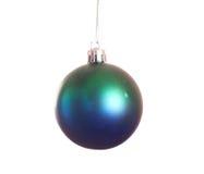 Geïsoleerdea de bal van Kerstmis Stock Afbeeldingen
