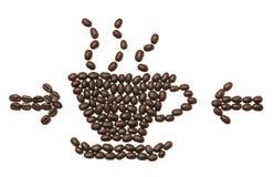Geïsoleerdea de bonen van de koffie Stock Afbeeldingen