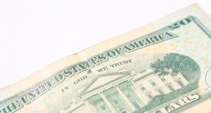 Geïsoleerdea de Rekening van twintig Dollar Stock Fotografie