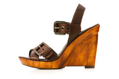 Geïsoleerdea de schoenen van de vrouw Stock Afbeelding