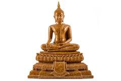 Geïsoleerdea het standbeeld van Boedha Stock Foto's