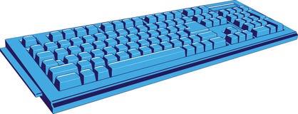 Geïsoleerdea het toetsenbord van de computer stock illustratie