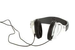 Geïsoleerdea hoofdtelefoons stock foto's
