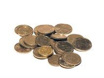 Geïsoleerdea muntstukken Stock Afbeelding