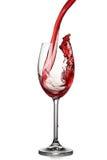 Geïsoleerdea plons van wijn stock foto's