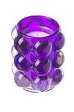 Geïsoleerdea purpere tealightkaars Stock Afbeelding
