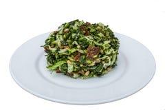 Geïsoleerdea salade op plaat royalty-vrije stock fotografie