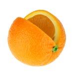 Geïsoleerdea sinaasappel Stock Foto