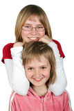 Geïsoleerdea tieners - stock foto