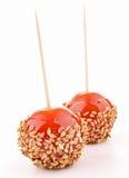 Geïsoleerdea tomaat zoals toffeeappel stock afbeeldingen