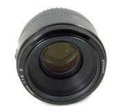 Geïsoleerdea Zwarte Lens DSLR Royalty-vrije Stock Foto's