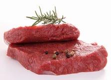 Geïsoleerdeb biefstuk stock foto's