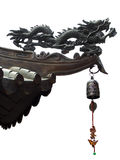 Geïsoleerdeb Chinese draak en klok Stock Foto's