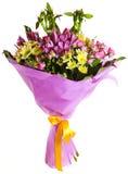 Geïsoleerdeb het boeket van bloemen Royalty-vrije Stock Afbeeldingen
