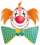 Geïsoleerdeb het portret van de clown Stock Foto's
