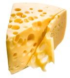 Geïsoleerdeb kaas. Royalty-vrije Stock Afbeeldingen