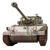 Geïsoleerdeb oude tank Stock Fotografie