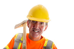 Geïsoleerdec bouwvakker Royalty-vrije Stock Foto