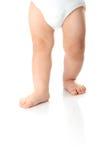 Geïsoleerdec de benen van de baby Royalty-vrije Stock Afbeeldingen