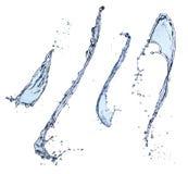 Geïsoleerdec de plons van het water Stock Foto