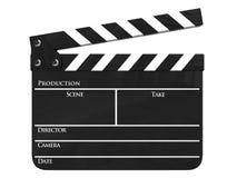 Geïsoleerdec de productiedakspaan van de film Stock Foto's