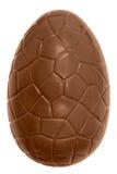 Geïsoleerdec het paasei van de chocolade Royalty-vrije Stock Afbeelding