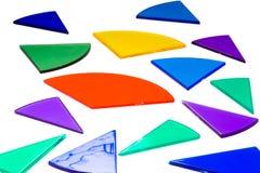 Geïsoleerdec kleurrijke fractiecirkels Stock Fotografie