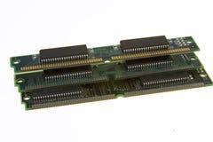 Geïsoleerdec microchips stock foto's