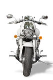 Geïsoleerdec motorfiets Stock Fotografie