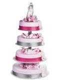 Geïsoleerded de Cake van het huwelijk stock afbeelding