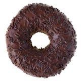 Geïsoleerded de doughnut van de chocolade royalty-vrije stock afbeelding