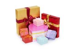 Geïsoleerded de dozen van de gift Stock Foto
