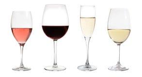 Geïsoleerded de inzameling van wijnen Stock Afbeelding