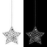 Geïsoleerded de ster van Kerstmis Stock Afbeeldingen