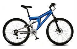 Geïsoleerded fiets Stock Foto
