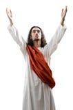 Geïsoleerded personifacation van Jesus-Christus Stock Afbeelding