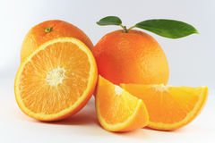 Geïsoleerded sinaasappel Royalty-vrije Stock Fotografie
