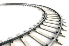 Geïsoleerded spoorweg Stock Fotografie
