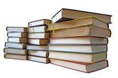 Geïsoleerded stapel uitstekende boeken, stock afbeelding